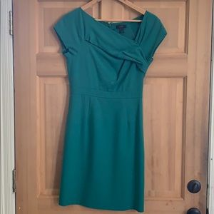 J Crew asymmetrical neckline cocktail dress